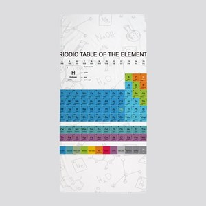 Periodic Table Of Elements With Chemis Beach Towel