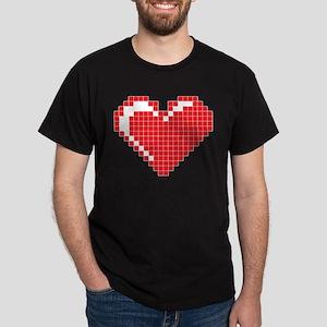 Pixel Heart Dark T-Shirt