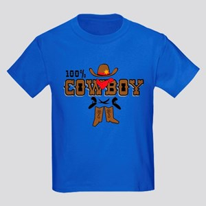 100% Cowboy Kids Dark T-Shirt