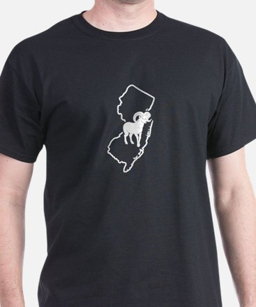 Bighorn Sheep Head New Jersey Bighorn Shee T-Shirt