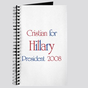 Cristian for Hillary 2008 Journal