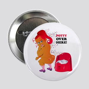"""Potty Over Here! 2.25"""" Button"""