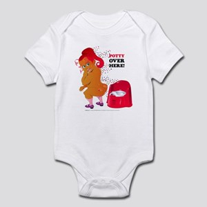 Potty Over Here! Infant Bodysuit