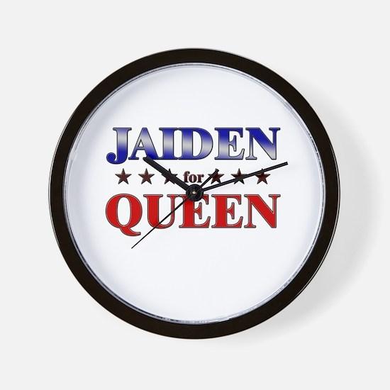 JAIDEN for queen Wall Clock