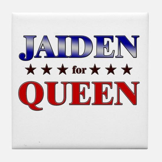 JAIDEN for queen Tile Coaster