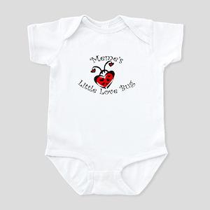 Meme's Love Bug Ladybug  Infant Bodysuit
