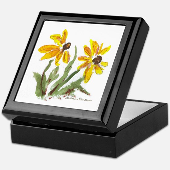 Yellow Flowers Keepsake Box