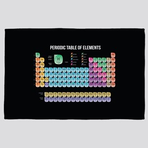 Periodic Table Of Elements 4' x 6' Rug