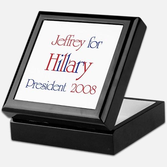 Jeffrey for Hillary 2008  Keepsake Box