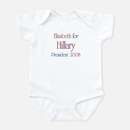 Elizabeth for Hillary 2008 Infant Bodysuit