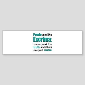 People are like Escrima Sticker (Bumper)
