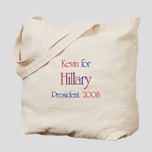 Kevin for Hillary 2008 Tote Bag