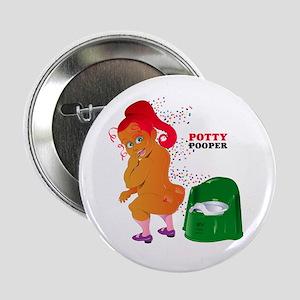 "Potty Pooper 2.25"" Button"