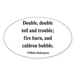 Shakespeare 24 Oval Decal