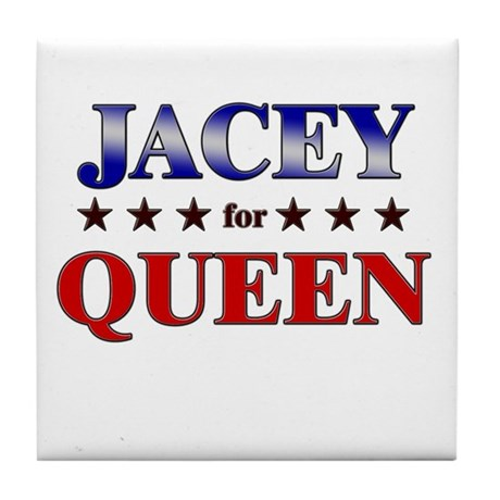 JACEY for queen Tile Coaster