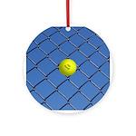Hit Hard Tennis Ornament (Round)