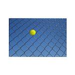 Hit Hard Tennis Rectangle Magnet (10 pack)