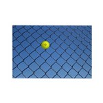Hit Hard Tennis Rectangle Magnet (100 pack)