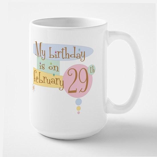 February 29th Retro Large Mug