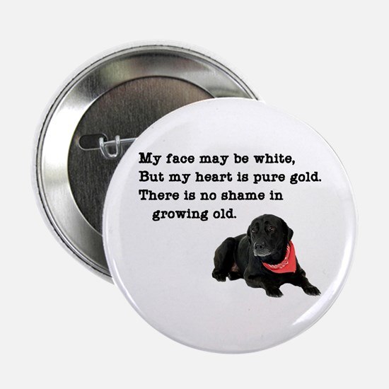 "Old Black Lab 2.25"" Button"