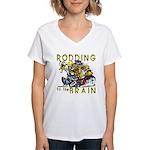 RODDING of the BRAIN Women's V-Neck T-Shirt