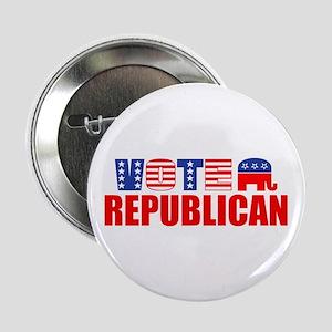 """Vote Republican (Stars & Stripes) 2.25"""" Button"""