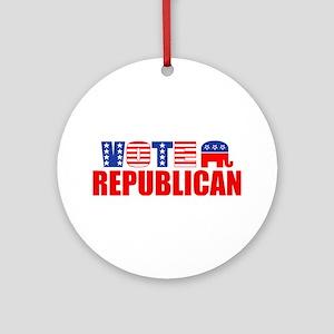 Vote Republican (Stars & Stripes) Ornament (Round)
