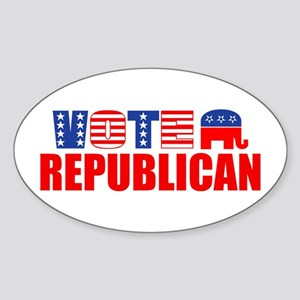Vote Republican (Stars & Stripes) Oval Sticker