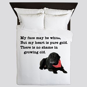 Old Black Lab Queen Duvet
