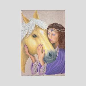 Princess & Her Pony Rectangle Magnet