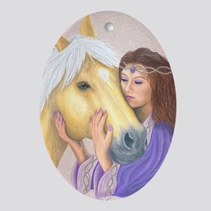 Princess & Her Pony Oval Ornament