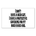 I don't have a beer gut, I ha Sticker (Rectangular