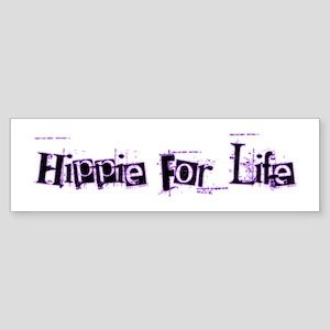 Hippie For Life Bumper Sticker