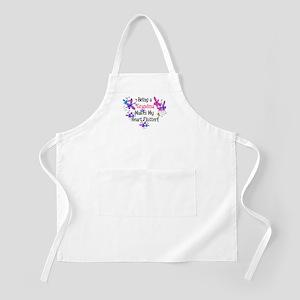 Grandma Heart Flutter BBQ Apron