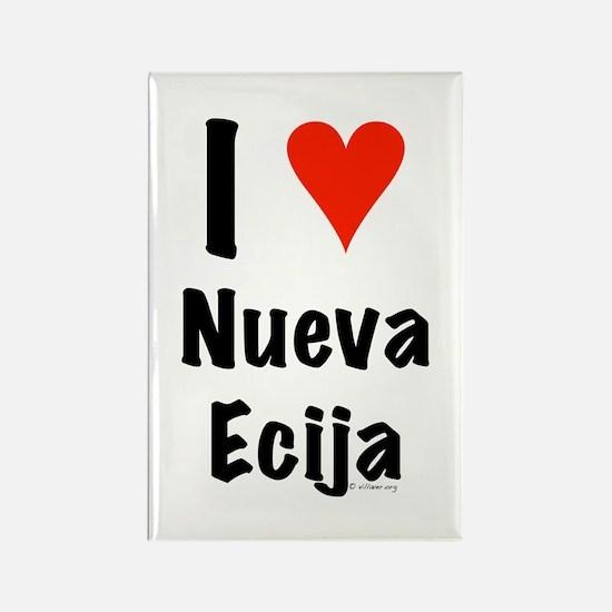 I love Nueva Ecija Rectangle Magnet
