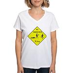 Ax Murderer X-ing Women's V-Neck T-Shirt
