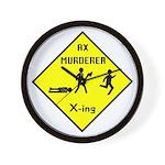 Ax Murderer X-ing Wall Clock