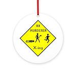 Ax Murderer X-ing Ornament (Round)