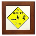 Ax Murderer X-ing Framed Tile