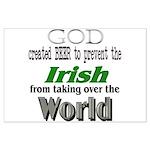 God, The Irish & Beer Large Poster