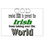 God, The Irish & Beer Large Poster
