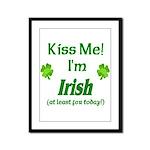 Kiss Me I'm Irish Framed Panel Print