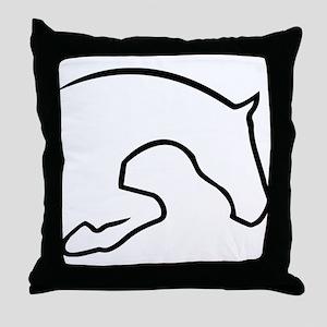 Hunter Jumper Throw Pillow