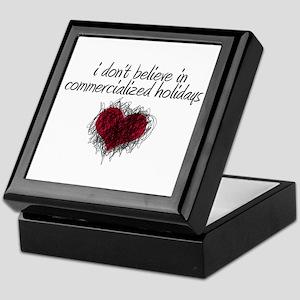 No Commercialized Holidays Keepsake Box