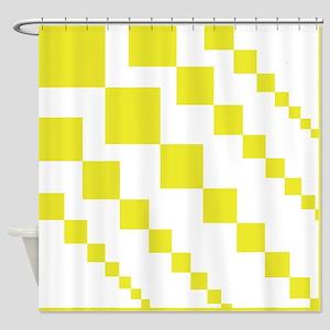 Yellow Descending Diamonds Shower Curtain