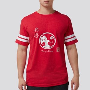 Tao of Meow/Yin Yang Cat Women's Dark T-Shirt