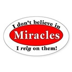 Miracles Oval Sticker