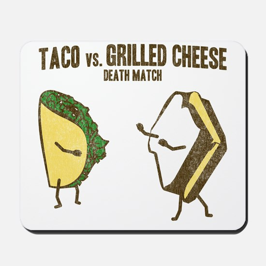 Taco VS Grilled Cheese Mousepad