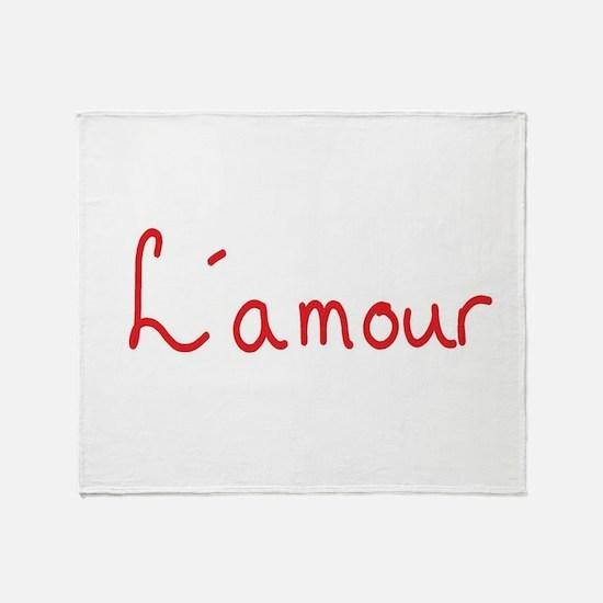 Cute Lamour Throw Blanket