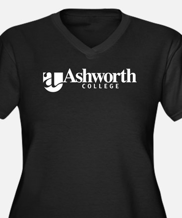 Ashworth College Women's Plus Size V-Neck Dark